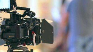 Camera filming testimonial