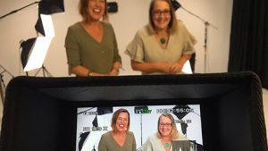 Two silly video presenters